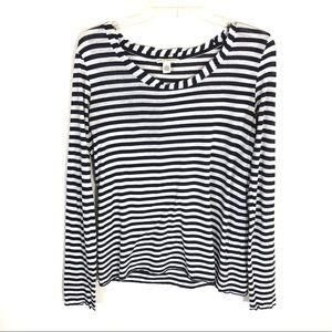 Banana Republic stripe boat neck t-shirt